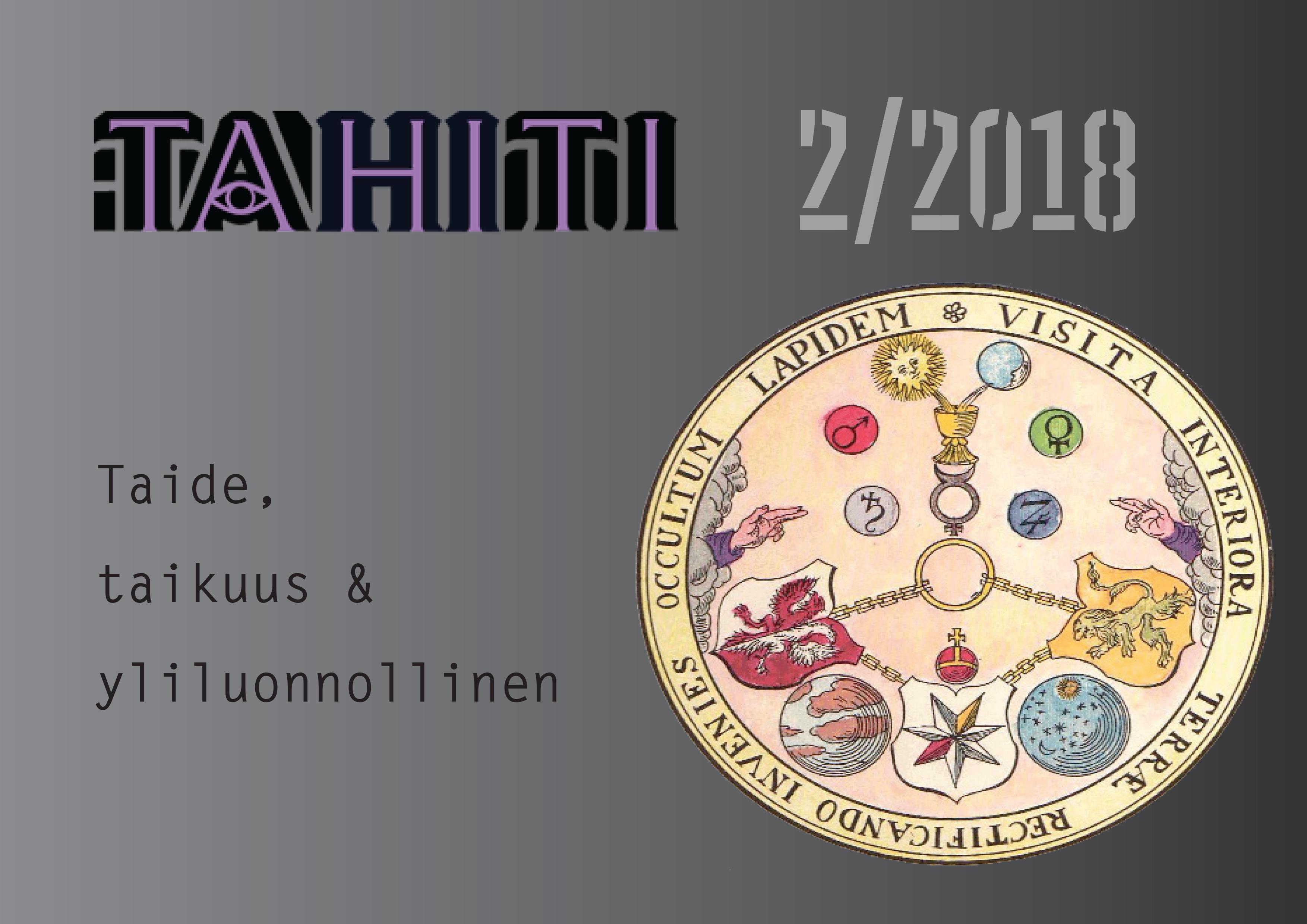 Näytä Vol 8 Nro 2 (2018): Taide, taikuus ja yliluonnollinen